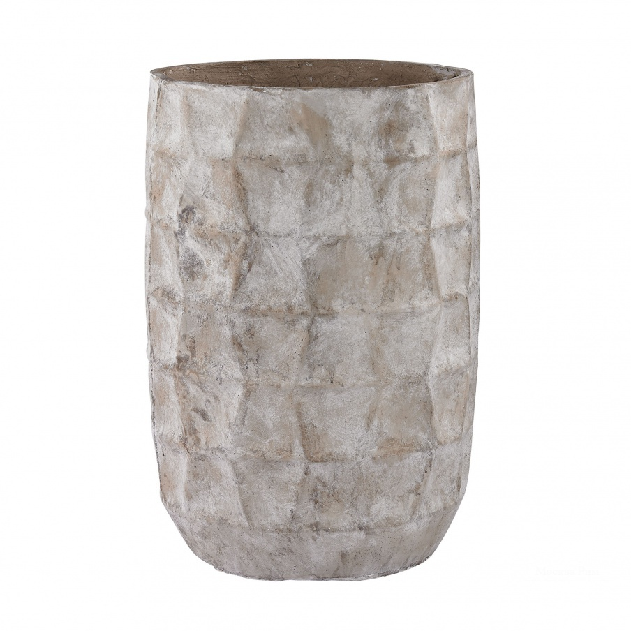 Ваза Aged Powdered Vase With Faceted Texture Dimond Home