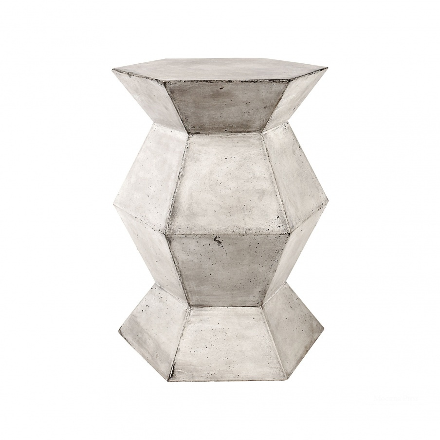 Стол Flanery Accent Table In Polished Concrete Dimond Home