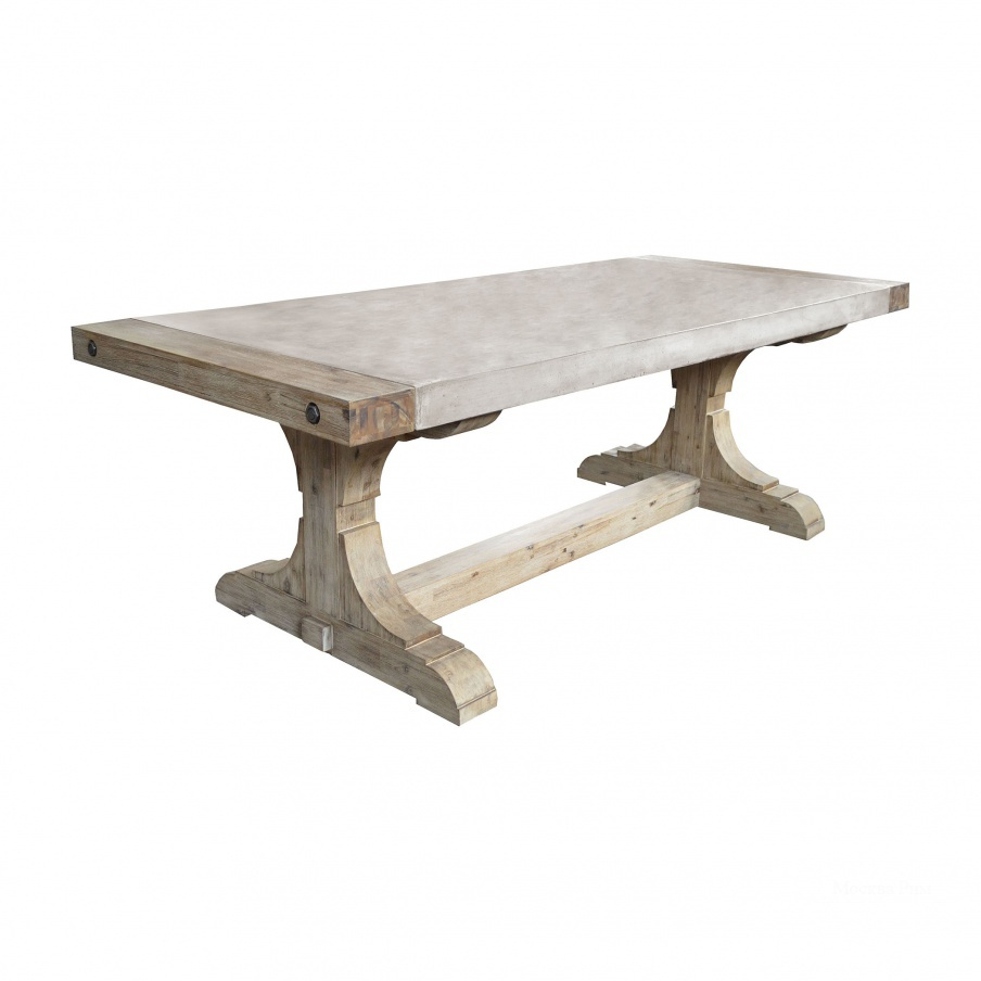 Стол Pirate Concrete and Wood Console Table with Waxed Atlantic Finish Dimond Home
