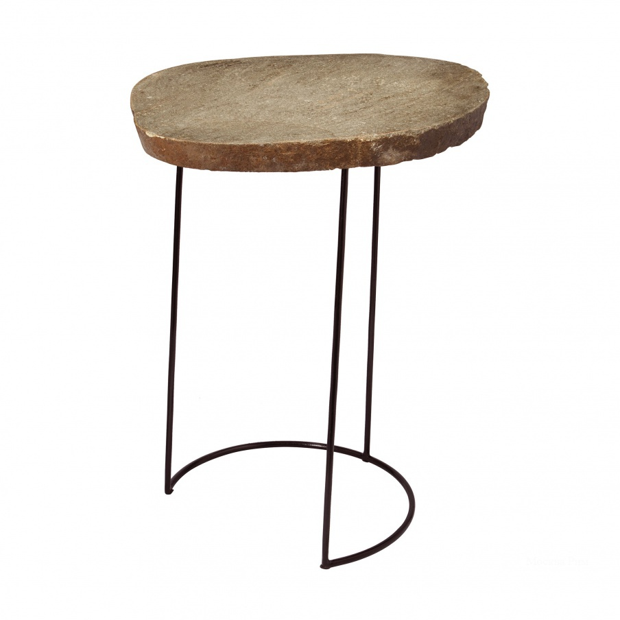 Стол Tall Stone Slab & Wire Frame Table Dimond Home