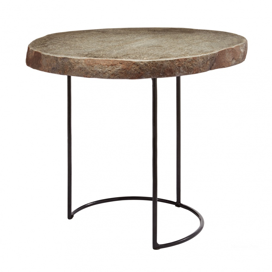 Стол Short Stone Slab & Wire Frame Table Dimond Home