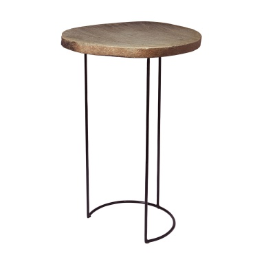 Стол Stone Slab & Wire Frame Table