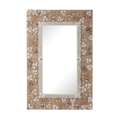 Настенное Rectangular Shell Mirror