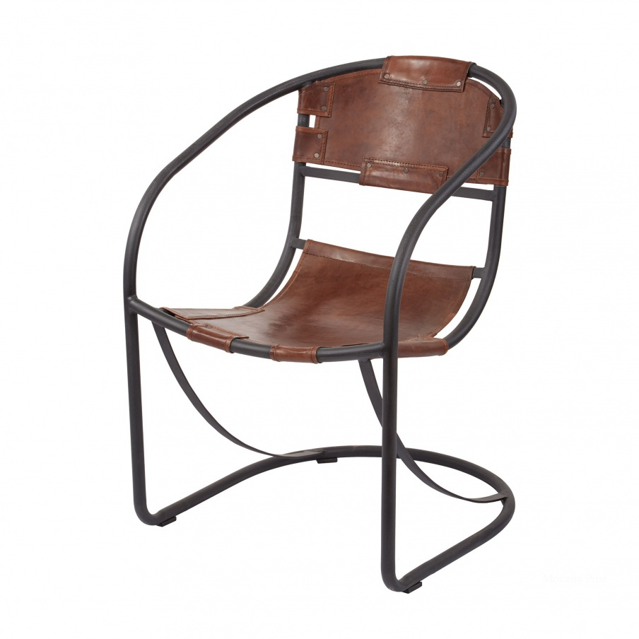 Стул Retro Round Back Leather Lounger Dimond Home