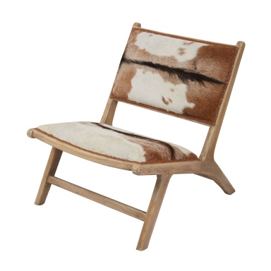 Стул Goatskin Leather Lounger