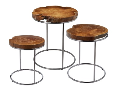 Стол Natural Teak Stacking Tables Dimond Home