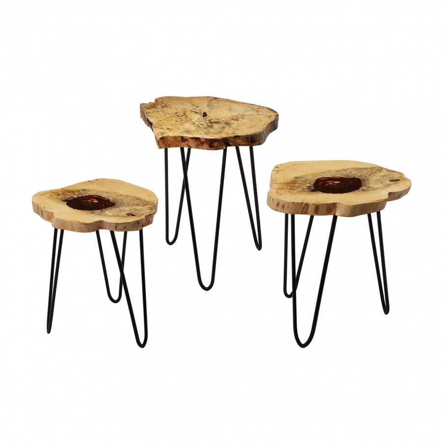 Стол Teak Nesting Tables Dimond Home