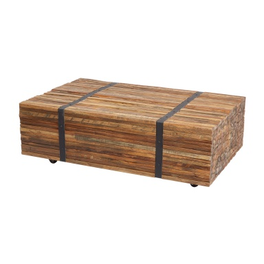 Стол Teak Strapped Coffee Table
