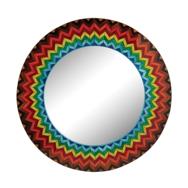 Настенное Vibrant Multi Starburst Mirror