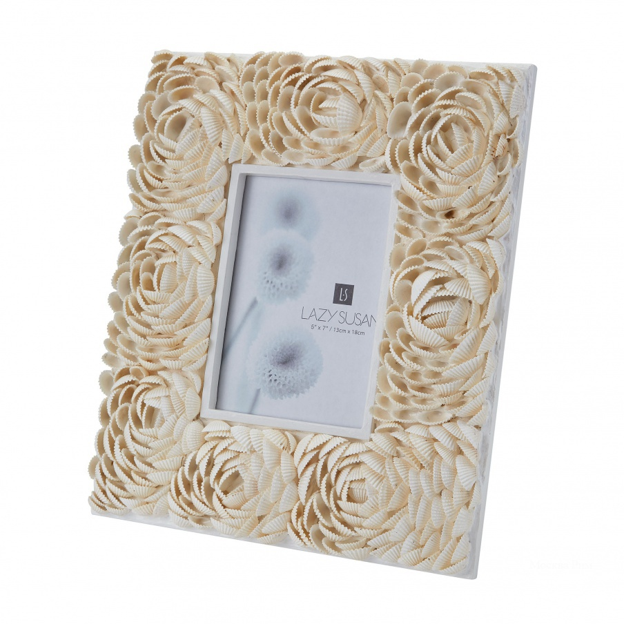 Рамка для фотографий 5X7 Natural Shell Flower Pattern Frame Dimond Home