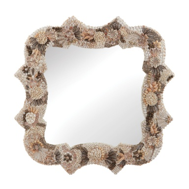 Настенное Square Antoinette Shell Mirror