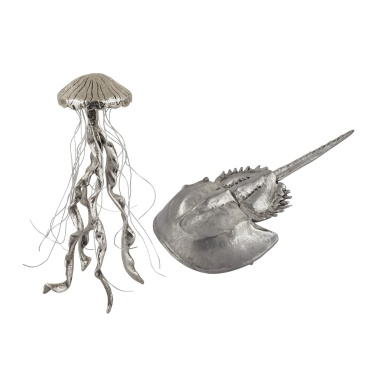 Аксессуар Hand Forged Silver Jelly Fish and Horseshow Crab - Set of 2