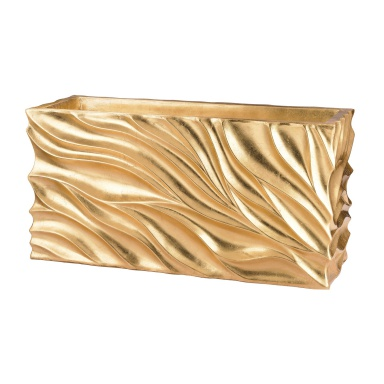 Кашпо Swirl Table Planter - Gold Leaf