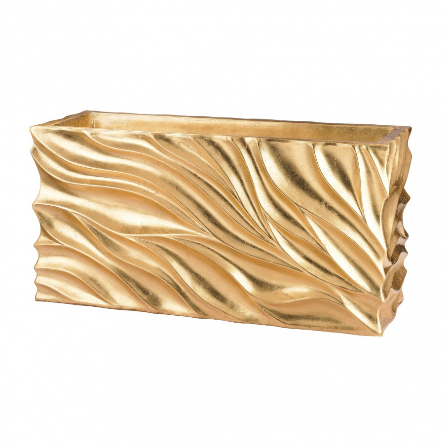 Кашпо Swirl Table Planter - Gold Leaf Dimond Home