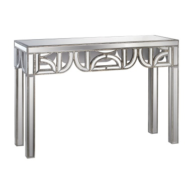 Консоль Mirrored Console With D Shape Detailing