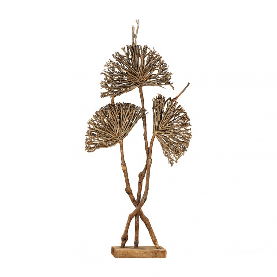 Статуэтка Pensacola Wooden Botanical Fan Sculpture Dimond Home