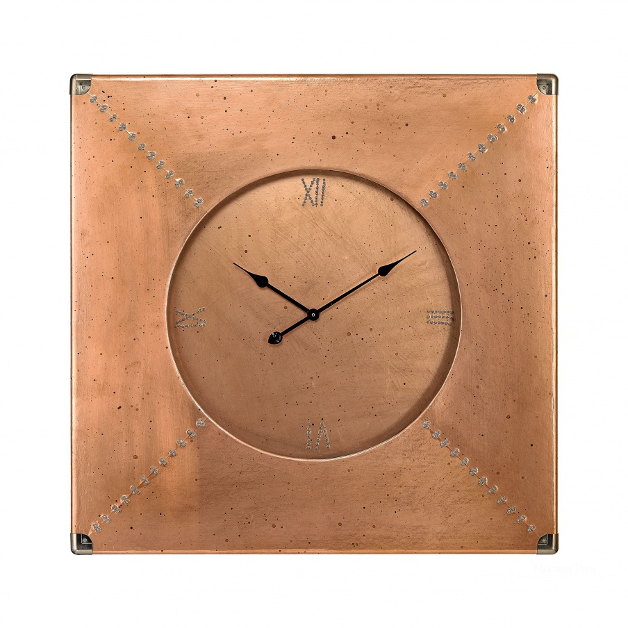 Часы настенные Copper Frame Clock Dimond Home