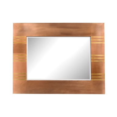 Настенное Copper Frame Mirror With Gold