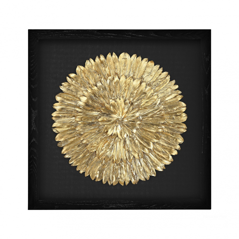 Настенный декор Gold Feather Spiral Dimond Home