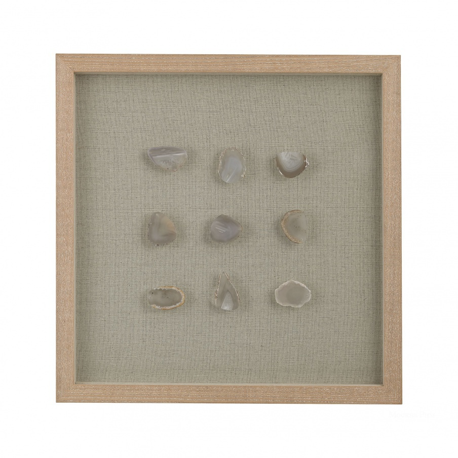 Настенный декор Natural Agate Shadow Box Dimond Home