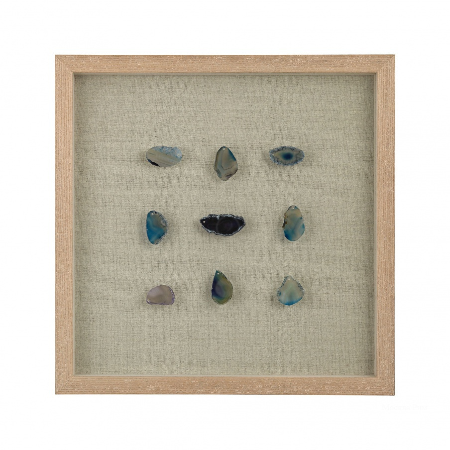 Настенный декор Blue Agate Shadow Box Dimond Home