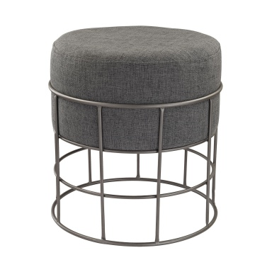 Табурет Pewter and Grey Linen Stool