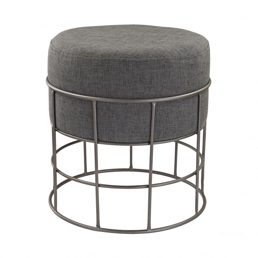 Табурет Pewter and Grey Linen Stool Dimond Home