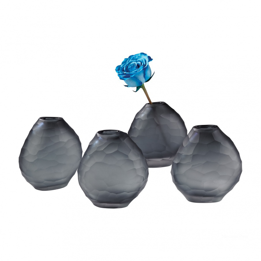 Ваза Cut Pebble Vases - Grey Dimond Home