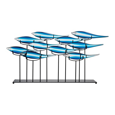 Аксессуар Tultui Ice Blue 22-Inch Glass and Metal Table Art - Large