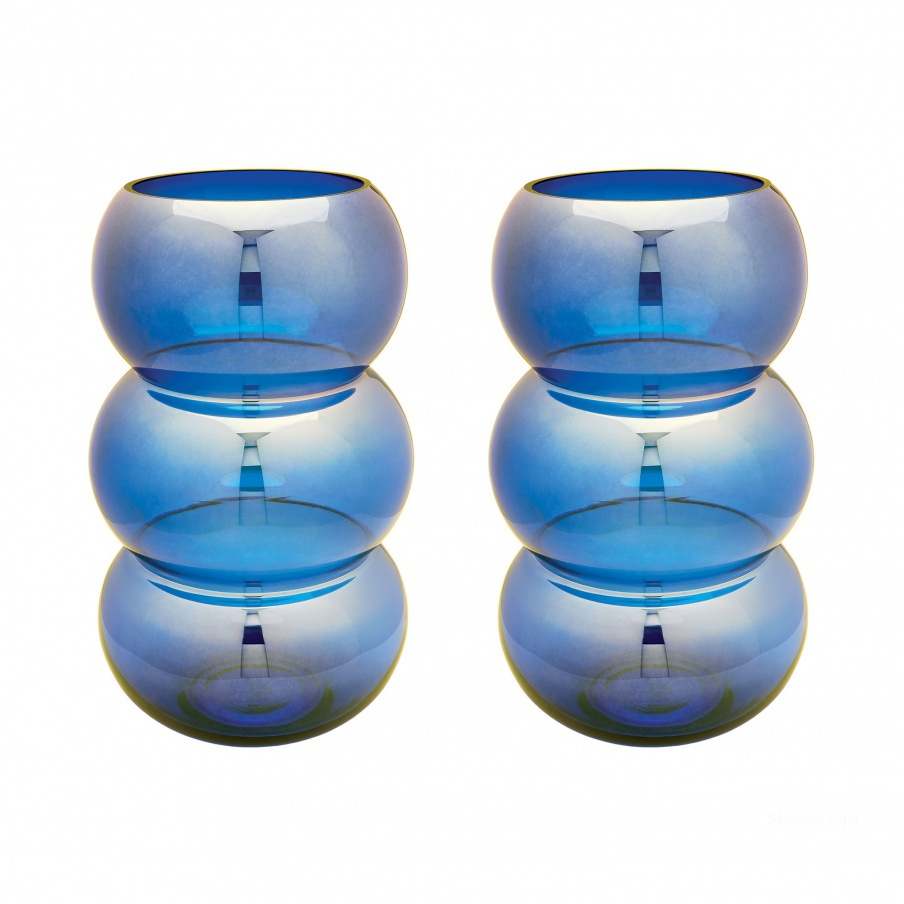 Подсвечник Cobalt Ring Votive - Set Of 2 Dimond Home