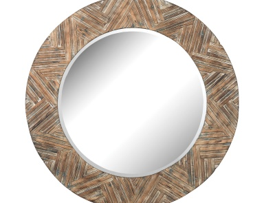 Настенное Large Round Wicker Mirror Dimond Home