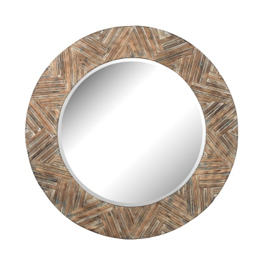 Настенное Large Round Wicker Mirror