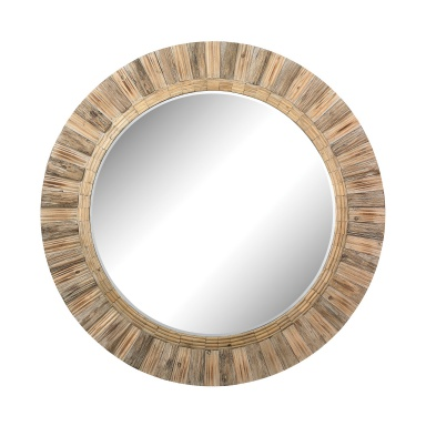 Настенное Oversized Round Wicker Mirror