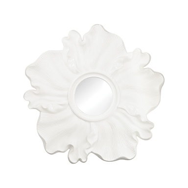Настенное Gloss White Flower Mirror