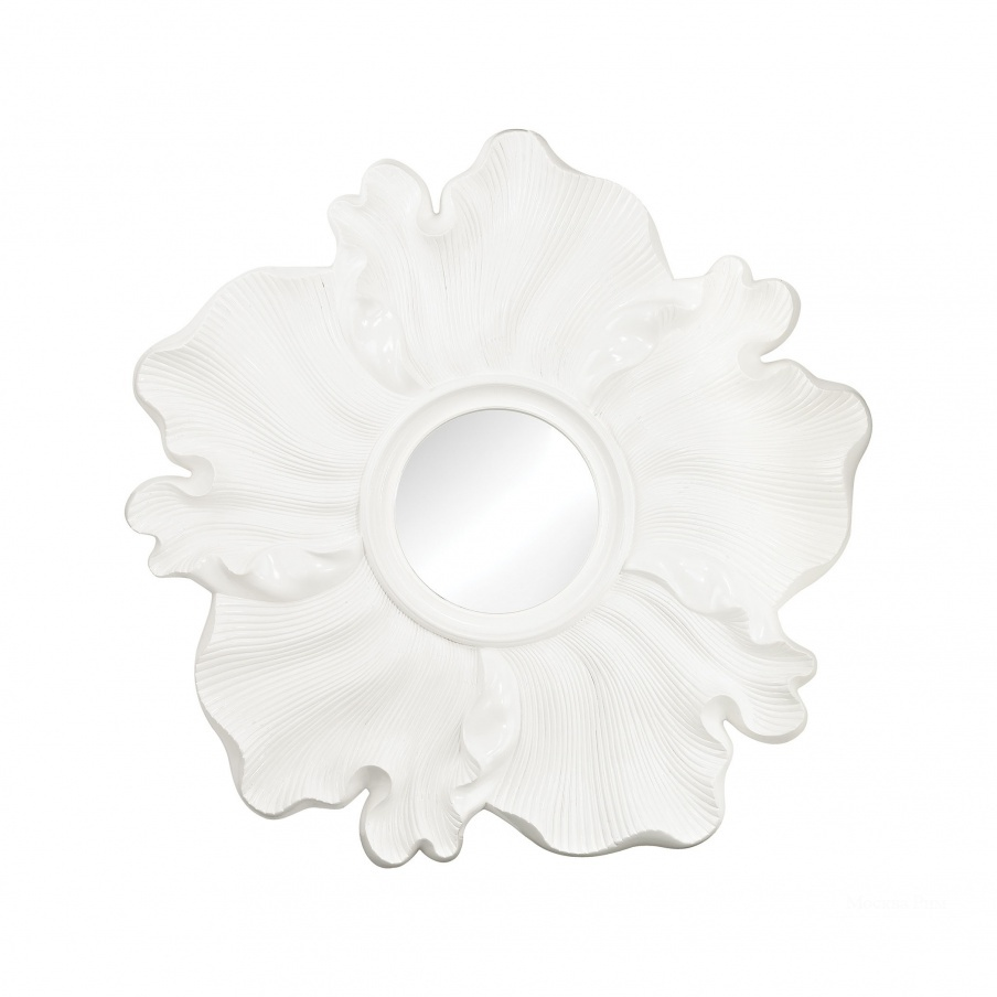 Настенное Gloss White Flower Mirror Dimond Home
