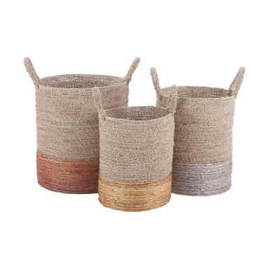 Корзина Mixed Metallics Nested Baskets
