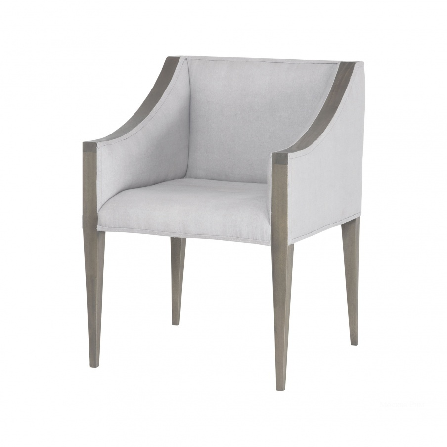Кресло Ashley Side Chair In Waterfront Grey Stain With Morning Mist Linen Upholestery Dimond Home