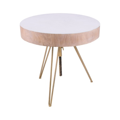 Стол Biarritz Suar Wood Accent Table With Gold Metal Legs