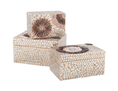 Коробочка для хранения Small Capiz Shell Urchin Box Dimond Home