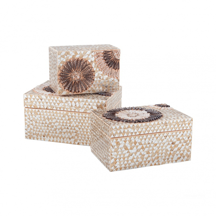 Коробочка для хранения Medium Capiz Shell Urchin Box Dimond Home