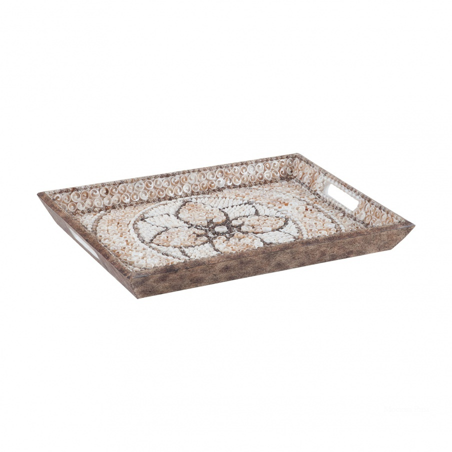 Поднос Shell Mosaic Serving Tray Dimond Home