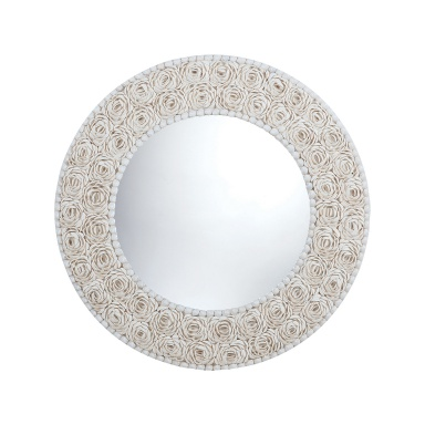 Настенное Floral Pattern Clam Shell Framed Mirror