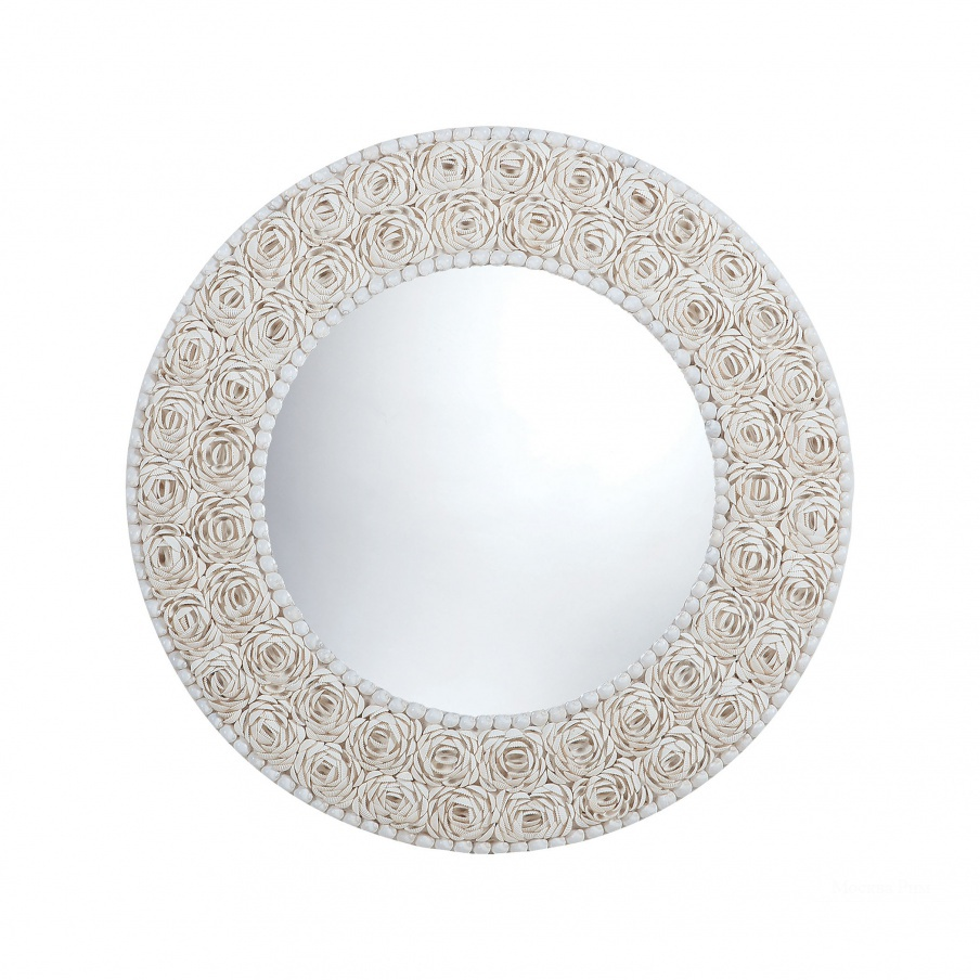 Настенное Floral Pattern Clam Shell Framed Mirror Dimond Home