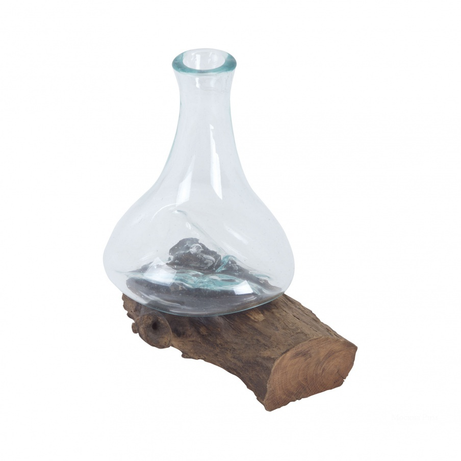 Сосуд Jetsam Teak Root And Glass Vessel - Tall Dimond Home