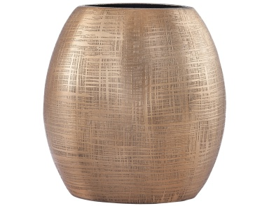 Ваза Kolkata 7-Inch Vase In Gold Dimond Home