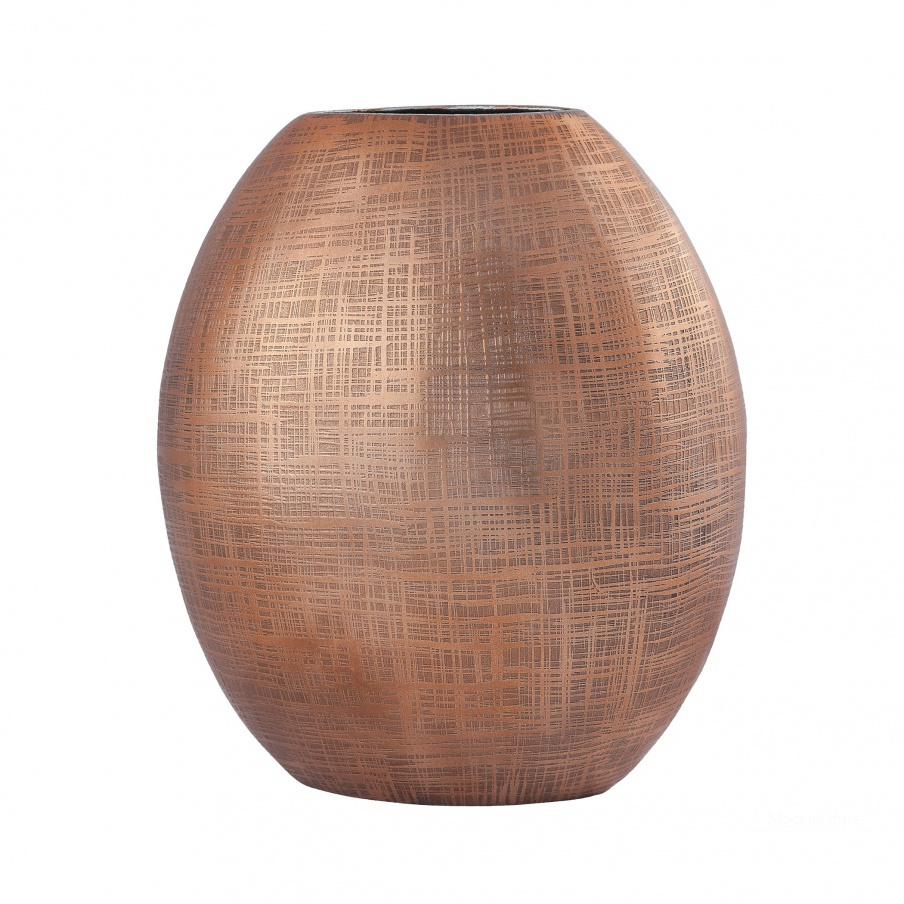 Ваза Kolkata 10-Inch Vase In Copper Dimond Home