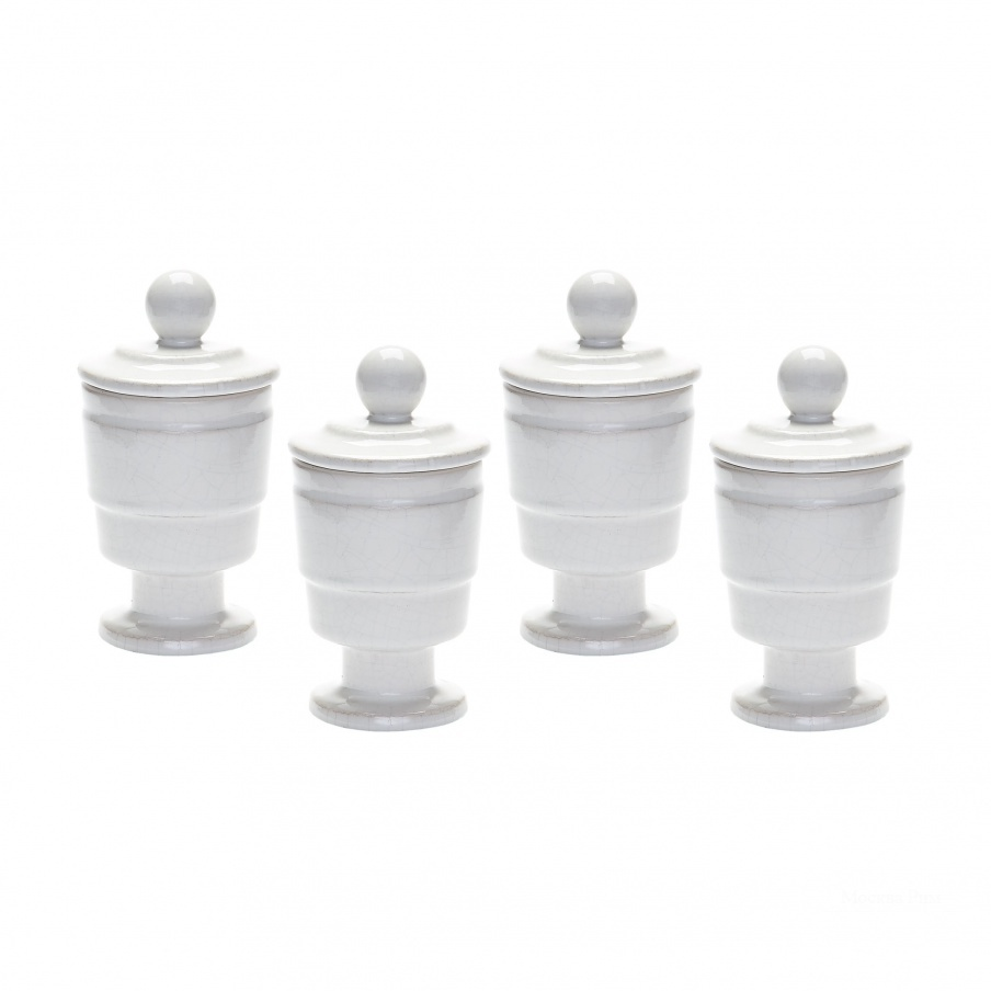 Подсвечник White Polar Filled Votive - Set Of 4 Dimond Home