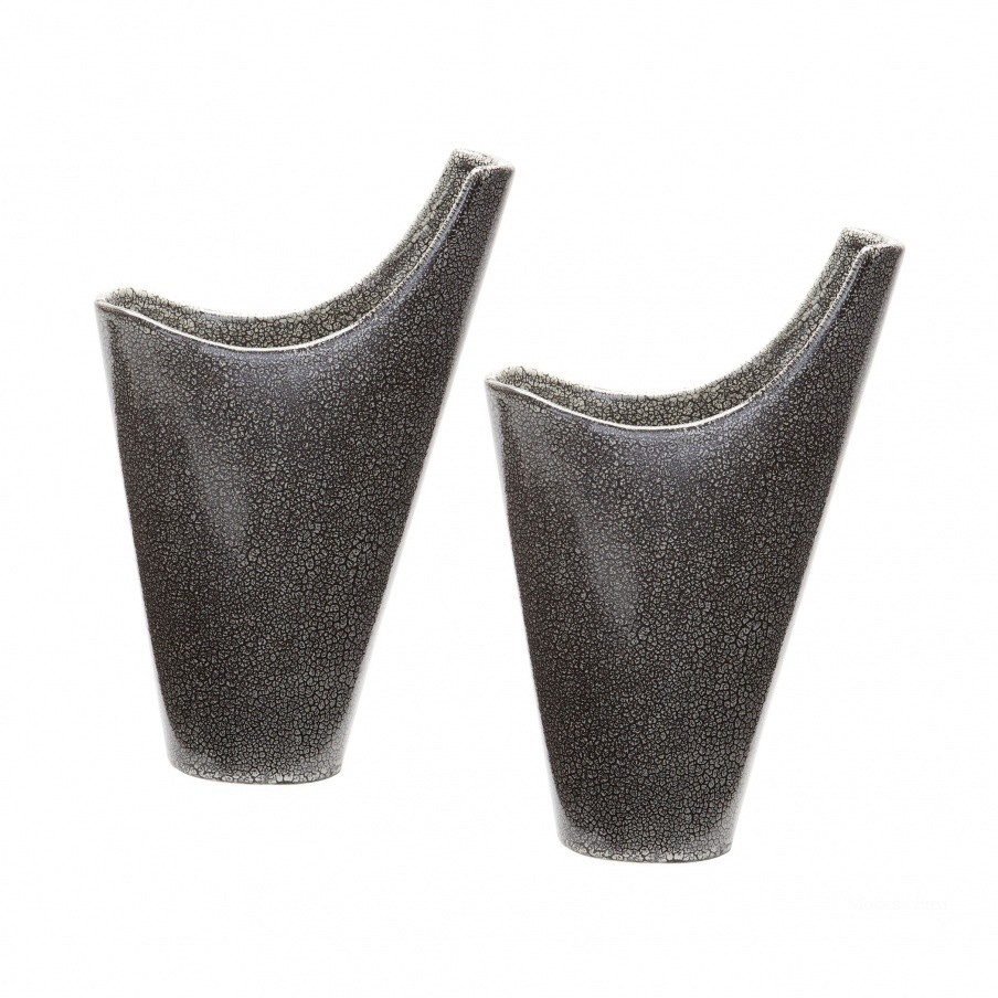 Ваза Reaction Filled Vases In Grey -Set Of 2 Dimond Home