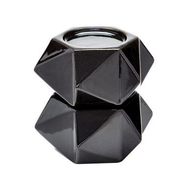 Подсвечник Large Ceramic Star Candle Holders - Black. Set Of 2