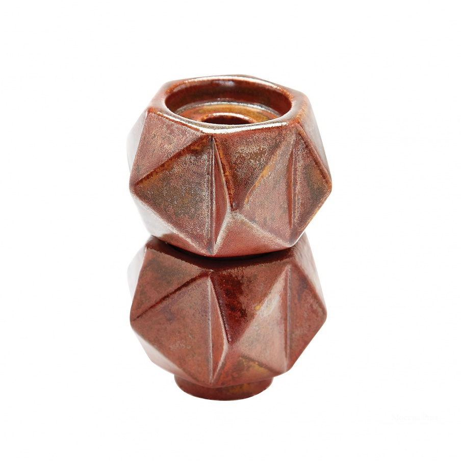 Подсвечник Small Ceramic Star Candle Holders - Russet. Set Of 2 Dimond Home